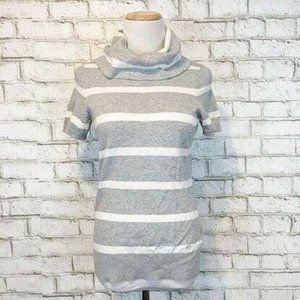 Tommy Hilfiger Women's Gray & White Sweater